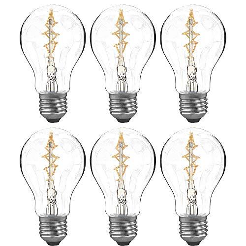 6 bombillas Paulmann Rustika AGL de Luxe, 60 W, E27, multiusos, similares. Lámpara de hilo de carbono blanco cálido regulable 548.60