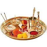 E-Handicrafts Pure Brass Pooja thali Set (Export Quality)