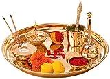 Collectible India Metal Puja Thali Set (29.4 cm x 11.62 cm x 11.62 cm)