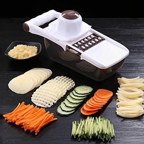 GZOOP Küchenhelfer Multifunktionale Mandolinenschneider Gemüseschneider Mit Edelstahl Klinge Kartoffel Karottenreibe Küchenwerkzeug