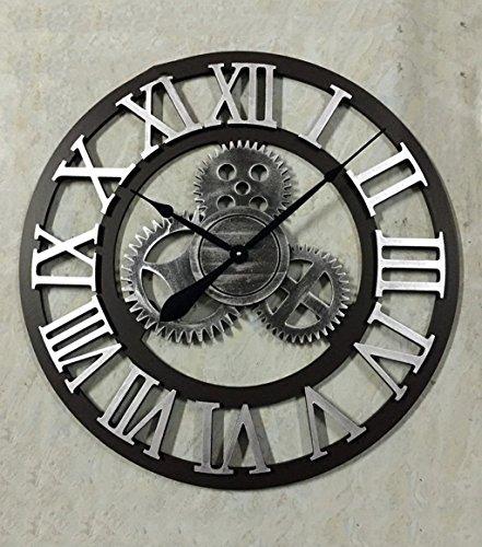 CAIJUN Grand diamètre 70cm Horloge Murale Vent Industriel Équipement 3D Table Suspendue Bar Café Famille Suspension Cadeau de Vacances Horloge Murale (Couleur : # 2)