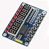 HiLetgo 8-Bit LED 8-Bit Digital Tube 8 KeyS TM1638 Display module for AVR Arduino ARM