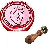 MDLG Vintage Custom Vivid Herz Organ Personalisierte Bild Buchstabe Logo Retro Einladung Wachs Siegel Stempel Palisander Griff Set