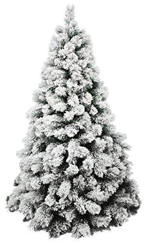 manieri Albero di Natale Innevato da Parete 540 Rami Ø152xH210cm Alfa White