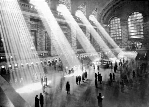 Posterlounge Acrylglasbild 80 x 60 cm: Sonnenstrahlen in der Grand Central Station - Wandbild, Acryl Glasbild, Druck auf Acryl Glas Bild