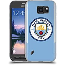 Official Manchester City Man City FC Home Badge Kit 2017/18 Soft Gel Case for Samsung Galaxy S6 active