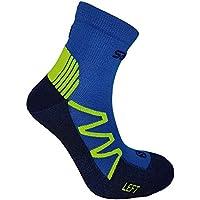 Salomon XT Hawk Running Calcetines Verde/Blanco con Ajuste, Acolchadas Suela y achillis tendones de Protector, Color, tamaño 45-47