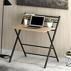 Cherry Tree Furniture New Design Folding Computer Desk Home Office Table With Natural Colour