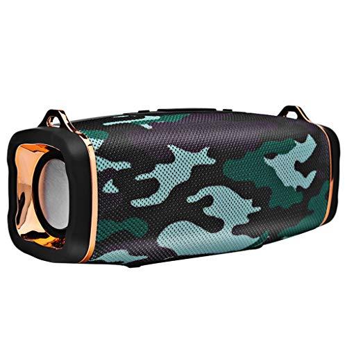 J13 Mini Haut-Parleur Bluetooth Enceinte Bluetooth Portable de Carte Flash lumière extérieure,Carte TF Support, Autonomie de 8 Heures pour Camping l'extérieur (armée Verte)