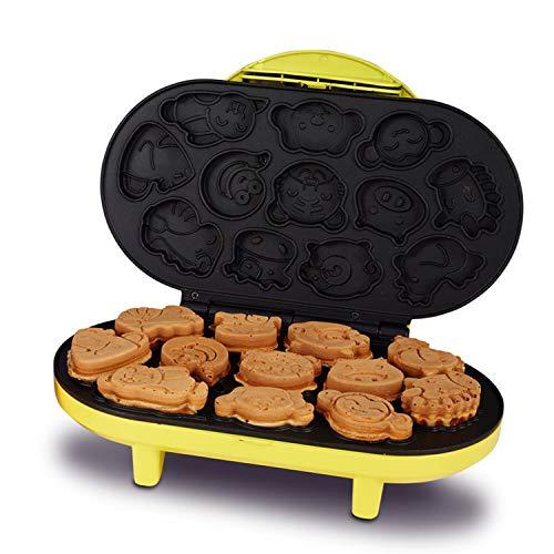 XCXDX Niedliche Cartoon Mini Kuchen Maker 12 Stück Auf Einmal Antihaft-Platten Einfach Sauber Sicher Und Gesund Yellow Tea Platte