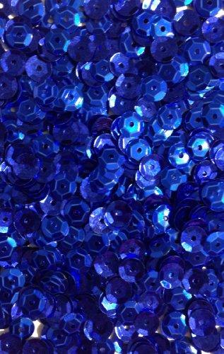 1400 Pailletten - Ø 6mm - Riesige Auswahl an Farben (Dunkelblau) -