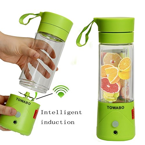 GOOSEBERRY 380ML Portable Wireless Rechargeable Juice Cup Mini Automatic Fruit Smoothie Cider Device Electric Juicer Bottle