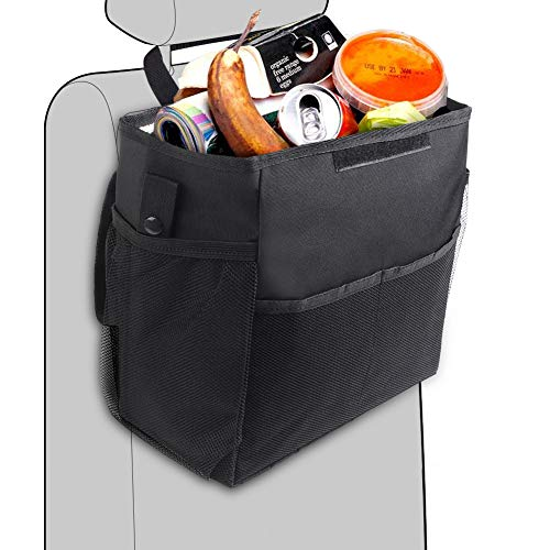 SZSMD Kofferraumtasch Auto Kofferraum Organizer, Auslaufsicher Wasserdicht Auto Mülleimer, Mülleimer Hängende Sitz Kopfstütze, Autotasche Aufbewahrung mit Deckel für Auto, Kofferraum, Minivan, SUV