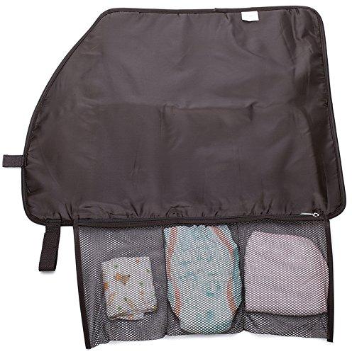 mengma Große Kapazität Wasserdicht Nylon Windel Tote Hobos Still Baby-Bag Mütter Sortieren Tasche 37* 30cm Reißverschluss 5Farben dark coffee