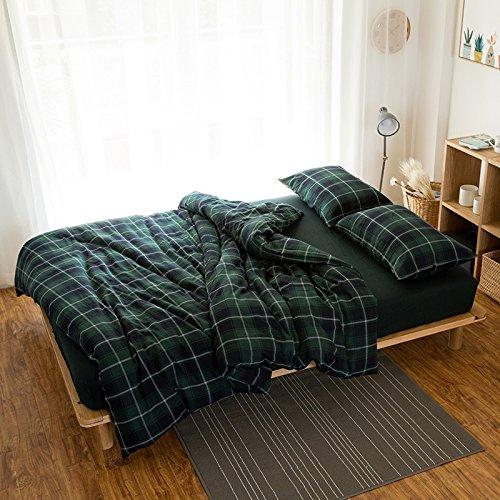 Cashmere Coton Hiver coréen. Ensemble Simple de 1,8 m 4 lit Chaud épais Matelas la literie en Coton Type,Drap,Green Velvet -,1,5 m (5 Pieds) lit