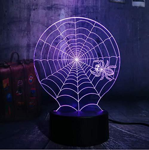 alloween Scary Szene Led Nachtlicht Spinnennetz Spinnennetz Net Schreibtischlampe Horror Wohnkultur Kind Weihnachtsgeschenk ()
