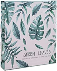 IMIKEYA 6 Inches Photo Album Green Leaves Wedding Family Photo Albums DIY Photo Album Holds 200 Horizontal Pho