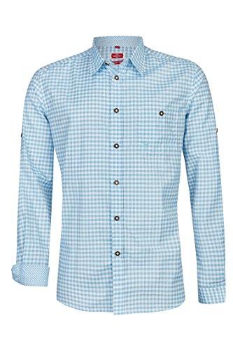Schlusen Trachtenmode Trachtenhemd Hannes (S, Hellblau)