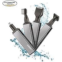 Cortapelos Orejas Nariz Sets, 4 en 1 batería recargable de nariz recortador/de oído nariz/barba Trimmer/patillas recortador/Cejas recortador para hombres y mujeres