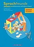 Sprachfreunde - Ausgabe Nord 2004 (Berlin, Brandenburg, Mecklenburg-Vorpommern): 2. Schuljahr - Differenzieren und Fördern: Arbeitsheft. Mit Lernstandsseiten