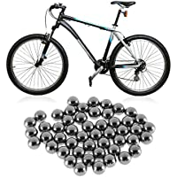 IIfreesia 50 unids Durable Bicicleta de Acero Inoxidable Reemplazo de Bolas 4mm 5mm 6mm 8mm 9mm 10mm Bicicleta Bicicleta Cojinete de Bolas de Acero