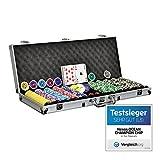 Pokerkoffer Pokerset 500 Laser Pokerchips Poker Komplett Set 11 g Chips Deluxe
