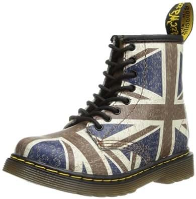 Dr. Marten's Brooklee, Boys' Boots, Classic Union Jack, 24 EU