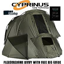 CyprinusTM Pleasure Dome Carp Fishing Bivvy Tienda de campaña Refugio + 2017 Carpología ...
