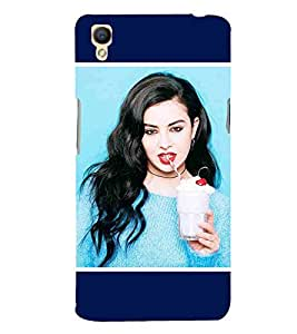 For Oppo A37 beautiful girl ( beautiful girl, cute girl, nice girl, girl ) Printed Designer Back Case Cover By CHAPLOOS