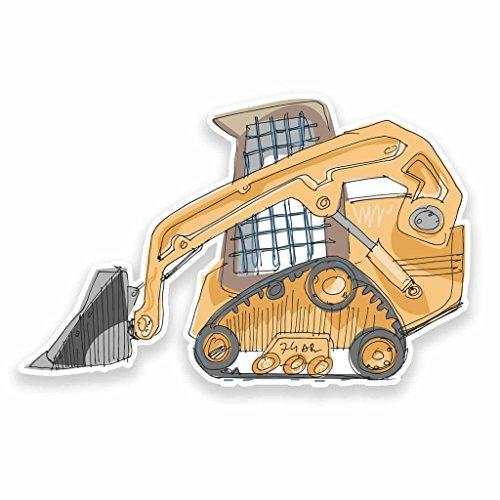 Preisvergleich Produktbild 2 x 10cm/100mm Bau DiggerVinyl SELBSTKLEBENDE STICKER Aufkleber Laptop reisen Gepäckwagen iPad Zeichen Spaß #9534