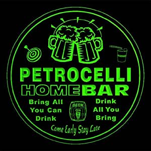 4x ccq34802-g PETROCELLI Family Name Home Bar Pub Beer club Gift 3D Coasters