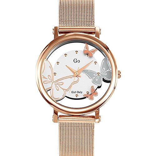 Go Girl Only–695037Damen-Armbanduhr 045J699Analog silber Armband Stahl Rosa