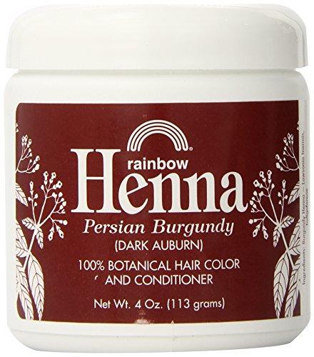Henna, color de pelo y el acondicionador, Borgoña (Dark Auburn) - Rainbow Investigación