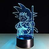 Dragon Ball Son Goku Bombas de fuerza Lámpara de mesa Led Luces de la...