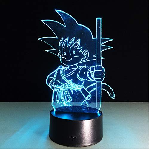 Dragon Ball Son Goku Stärke Bomben Tischlampe Led Nachtlichter Zimmer Dekorative Beleuchtung Urlaub Geschenke 3D Nachtlampe