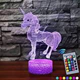Best Easy Smart Touch Gift For A Boyfriends - Unicorn Night Light, Led Illusion Lamps Birthday Gifts Review