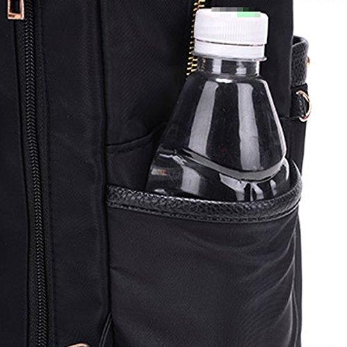 Einfach Damen Große Kapazität Oxford Tuch Weich Wasserdicht Rucksack Handtasche Black