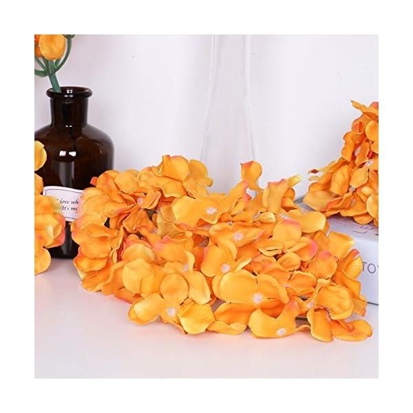 Flores artificiales, 10 piezas de hortensias artificiales para centros de mesa y arreglos florales de tacto real para…