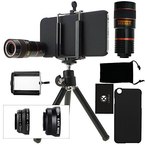 CamKix® iPhone 6 / 6S Kamera-Objektiv-Set mit einem 8X Teleobjektiv/Fisheye Objektiv / 2 in 1 Makroobjektiv und Weitwinkel-Objektiv - MV (iPhone 6 / 6S, Schwarz) (Iphone 6 Plus-kamera-objektiv)