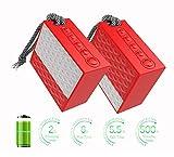 YMXLJJ TWS Altavoz Bluetooth Bluetooth Portátil 4.2 IPX6 A Prueba De Agua 10M Distancia De Transmisión con Teléfono Manos Libres Calidad De Sonido Claro Pareja Regalo Rojo (1 Paquete)