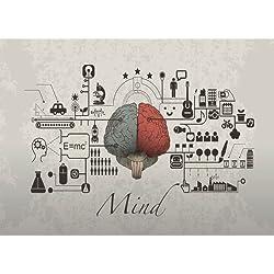 La mente (cod.010) - Impresión en lienzo de las funciones del cerebro