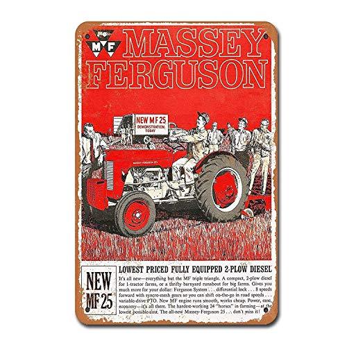 Toddrick Massey Ferguson MF 25 Tractors Farm Tin Chic Sign Vintage Style  Cuisine rétro Bar Pub Café Coffee Shop Décor 8