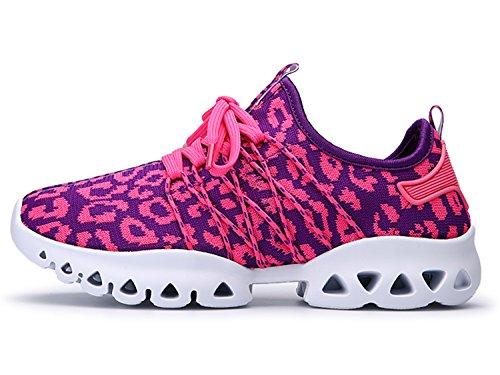 IIIIS-R Donna Scarpe da Ginnastica Corsa Sportive Running Sneakers Fitness Interior Casual all'Aperto rosa purple