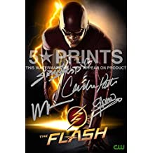 """The Flash Poster Photo 12x8"""" Signed PP TV Series Cast Grant Gustin Wentworth Miller Candice Patton Stephen Amell Autograph Print"""