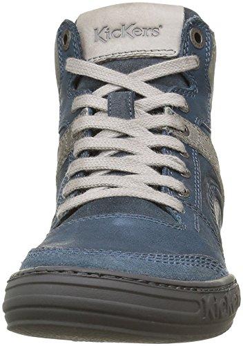 Kickers Jexplorehigh, Baskets Hautes Homme Bleu (Bleu Gris)