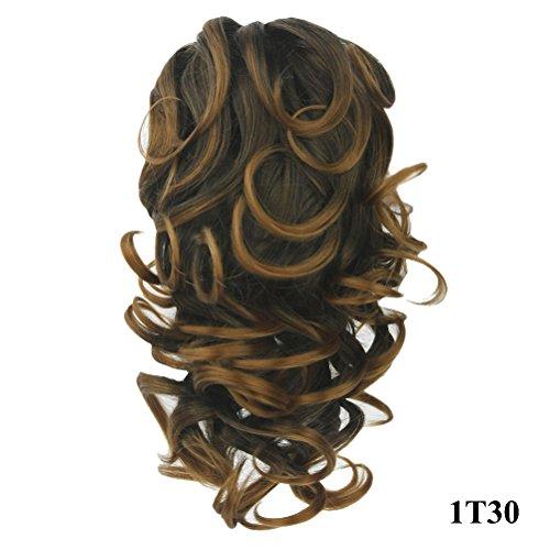 PrettyWit Extension per capelli coda di cavallo con mollettone per il fissaggio circa 305 capelli lunghi ondulati e boccoli