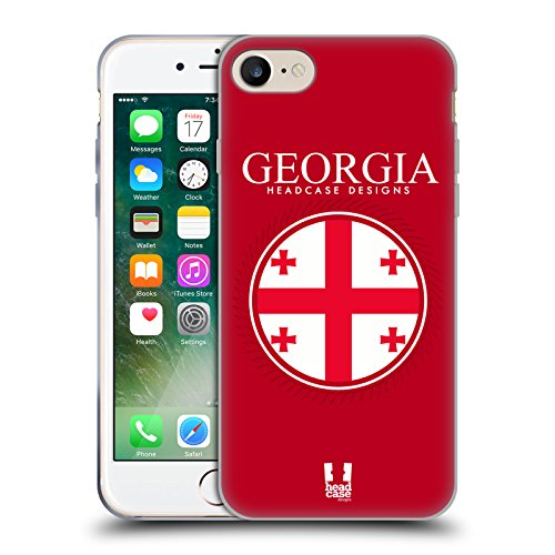 Head Case Designs Bandiera Albanese Bandiere E Toppe Cover Morbida In Gel Per Apple iPhone 7 / iPhone 8 Bandiera Della Georgia