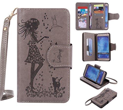 Chreey Coque Samsung Galaxy S4 / GT-i9500 (5 pouces) ,PU Cuir Portefeuille Etui Housse Case Cover ,carte de crédit Fentes pour (9 fente) ,idéal pour protéger votre téléphone
