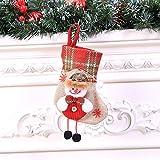 LHWY Weihnachtsstrümpfe Anhänger Weihnachtssocke Mini Socke Weihnachtsmann Süßigkeiten Geschenk Tasche Weihnachtsbaum Hängen Dekor (C)