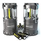 2 x HeroBeam® LED Lantern - 2016 Technology emits 300 LUMENS! - Collapsible